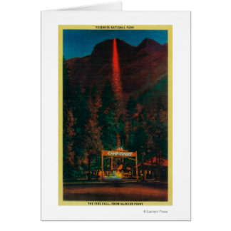 The Fire Fall from Glacier Point Card