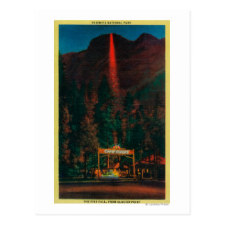 The Fire Fall from Glacier Point Postcard