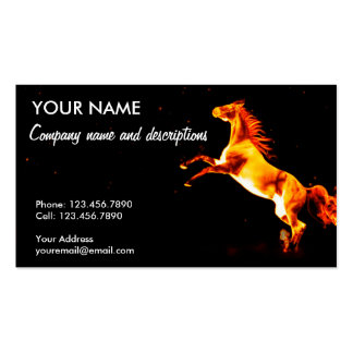 The Fire Horse Double-Sided Standard Business Cards (Pack Of 100)