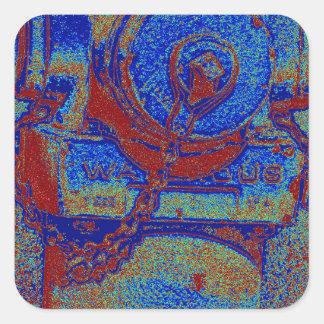The Fire Hydrant Square Sticker