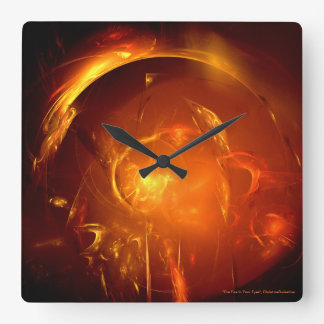 """""""The Fire In Your Eyes"""" Wall Clock"""