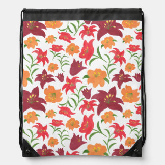 The Fire Lily Drawstring Backpack