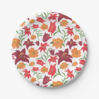 The Fire Lily Paper Plate