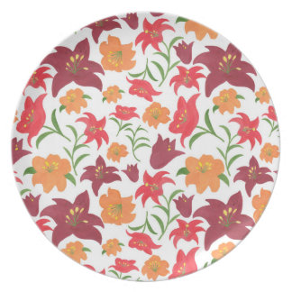 The Fire Lily Party Plates