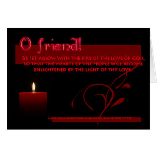 The Fire of the Love of GOD. Card