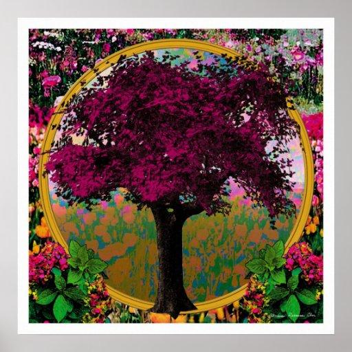 The Fire Tree Print