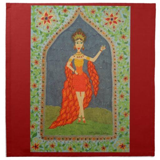 The Firebird (Fairy Tale Fashion #1) Printed Napkin