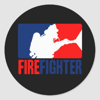 The Firefighter Action Classic Round Sticker