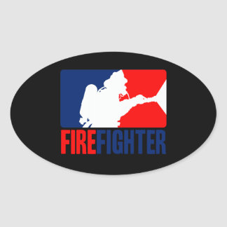 The Firefighter Action Oval Sticker