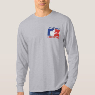 The Firefighter Custom Embroidery Embroidered Long Sleeve T-Shirt