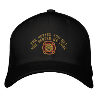 The Firefighter Custom Humorous Embroidery Embroidered Baseball Hat
