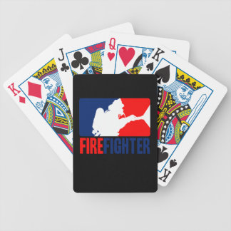 The Firefighter Headliner in Tri-colors Bicycle Playing Cards