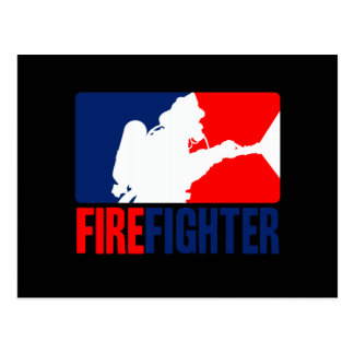 The Firefighter Headliner in Tri-colors Postcard