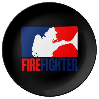 The Firefighter Porcelain Plates