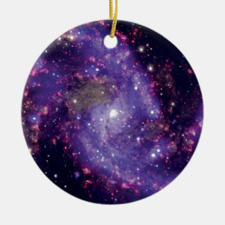 The Fireworks Galaxy Outer Space Photo Ceramic Ornament