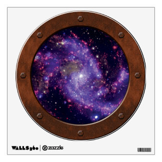 The Fireworks Galaxy Outer Space Photo Porthole Wall Decal