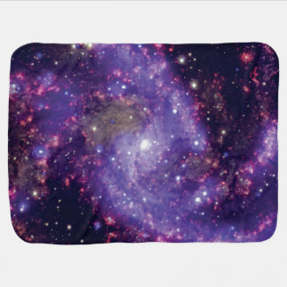 The Fireworks Galaxy Outer Space Photo Receiving Blanket