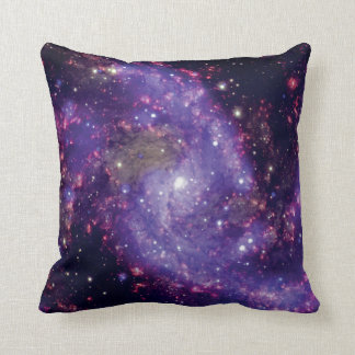 The Fireworks Galaxy Outer Space Photo Throw Pillow