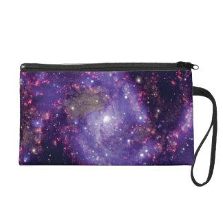 The Fireworks Galaxy Outer Space Photo Wristlet