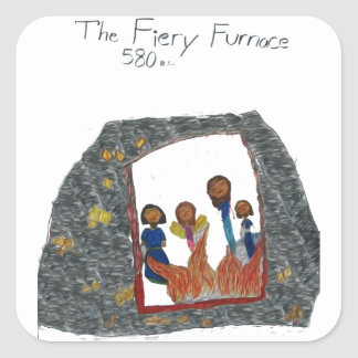 The Firey Furnace Square Sticker