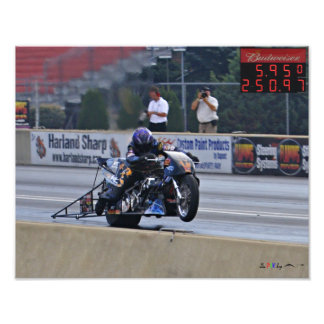 The First 250mph 1/4 Top Fuel Motorcycle pass Art Photo