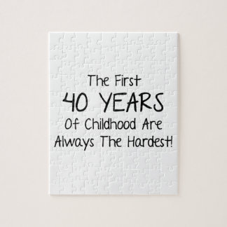 The First 40 Years Of Childhood Jigsaw Puzzle