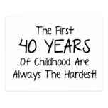 The First 40 Years Of Childhood Postcard