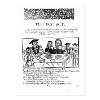 The First Act, a satirical play against Post Cards