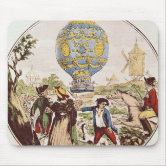 The First Aerial Voyage by Monsieur Francois Mouse Pad