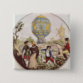 The First Aerial Voyage by Monsieur Francois Pinback Button