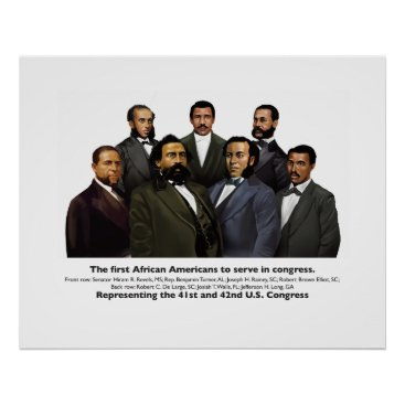 USA Themed The First African Americans to serve in Congress Poster