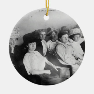 The First All Woman Jury in Las Angeles from 1911 Ceramic Ornament