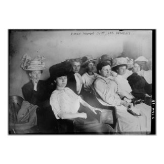 The First All Woman Jury in Las Angeles from 1911 Print