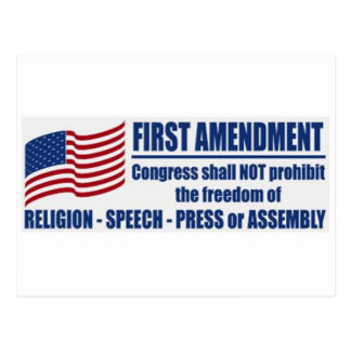 The First Amendment Postcard