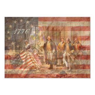 The First American Flag Card