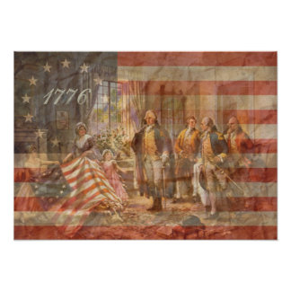 The First American Flag Poster
