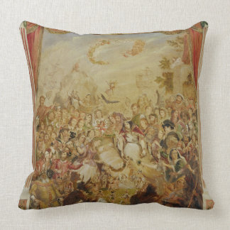 The First Appearance of William Shakespeare (1564- Throw Pillow
