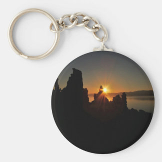 THE FIRST BEACON OF LIGHT AT SUNRISE KEYCHAIN