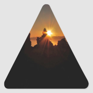 THE FIRST BEACON OF LIGHT AT SUNRISE TRIANGLE STICKER