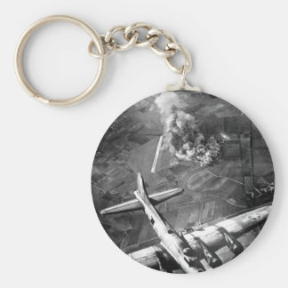 """""""The first big raid by the 8th Air Force_War Image Keychain"""