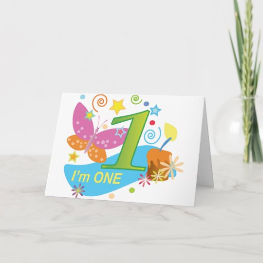 The First Birthday One Year Old Baby Card