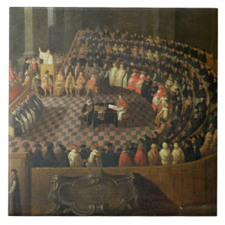 The First Chapter of the 25th Council of Trent, Ve Ceramic Tile