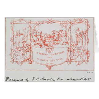 The first Christmas card, by J.C.Horsley, 1843