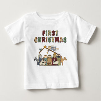 The First Christmas Nativity Scene Baby T-Shirt