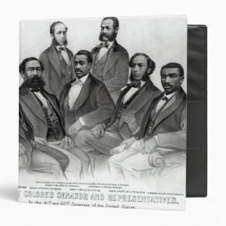 The First Colored Senator and Representatives 3 Ring Binder