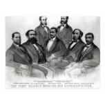 The First Colored Senator and Representatives Postcard