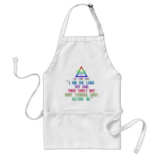 The First Commandment: The Lord said: Adult Apron