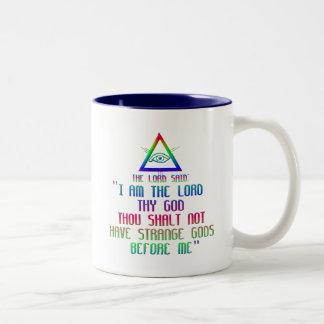 The First Commandment: The Lord said: Two-Tone Coffee Mug