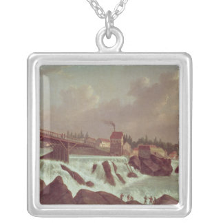 The first cotton mill in America Silver Plated Necklace