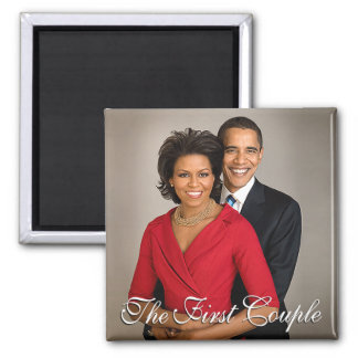 The First Couple 2 Inch Square Magnet